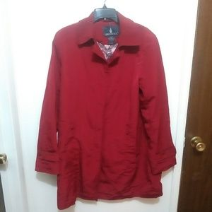 London Fog Womens Red Trench Coat  Xmas Colors